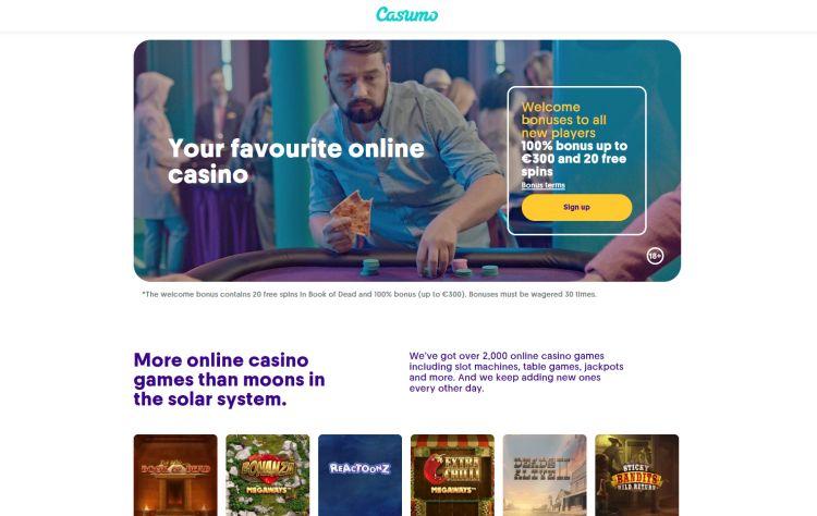 Casumo casino review bonus