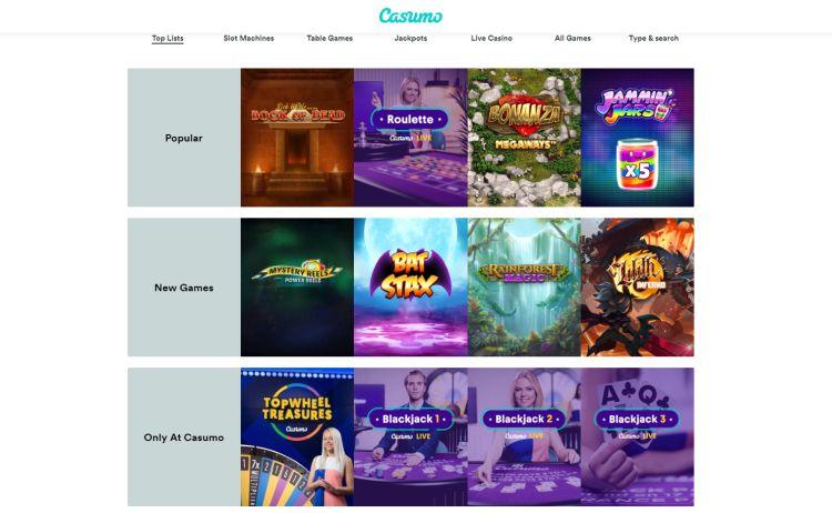 Casumo casino review games