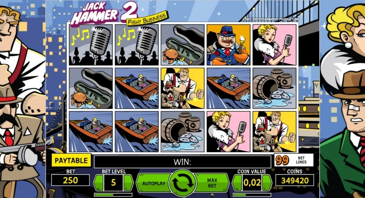 jack hammer 2 pokie netent screenshot