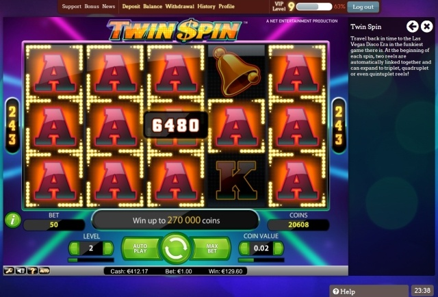 twinspin Netent pokie review