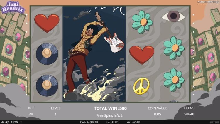 Jimi Hendrix netent crosstown traffic free spins