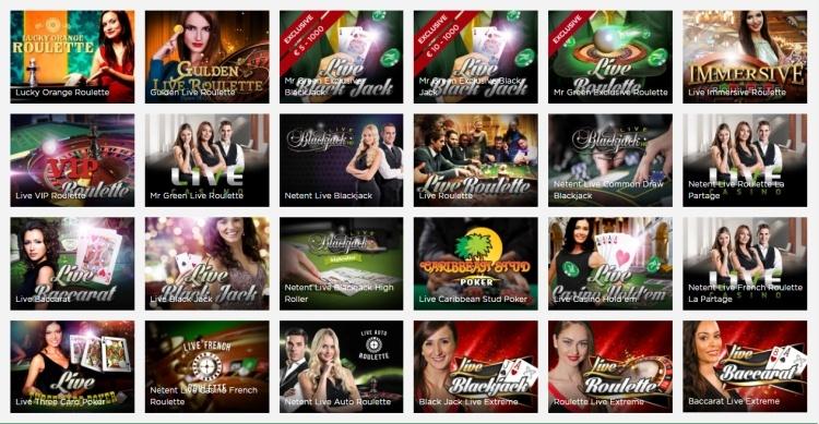 Mr Green casino review live casino