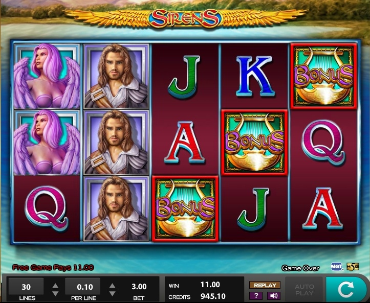 Sirens pokie review IGT bonus