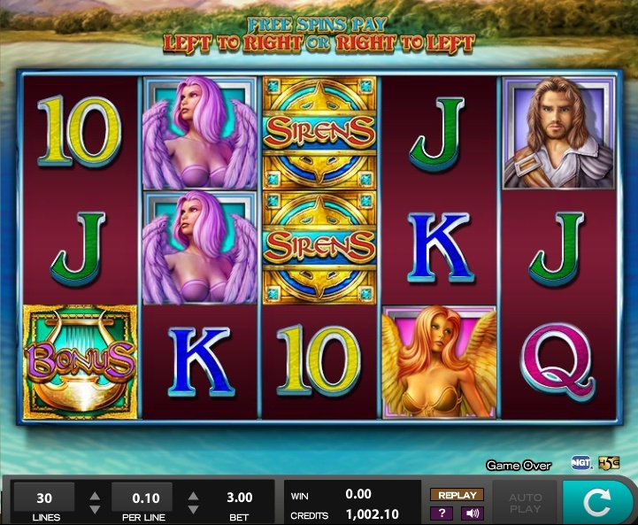 Sirens pokie review IGT online.