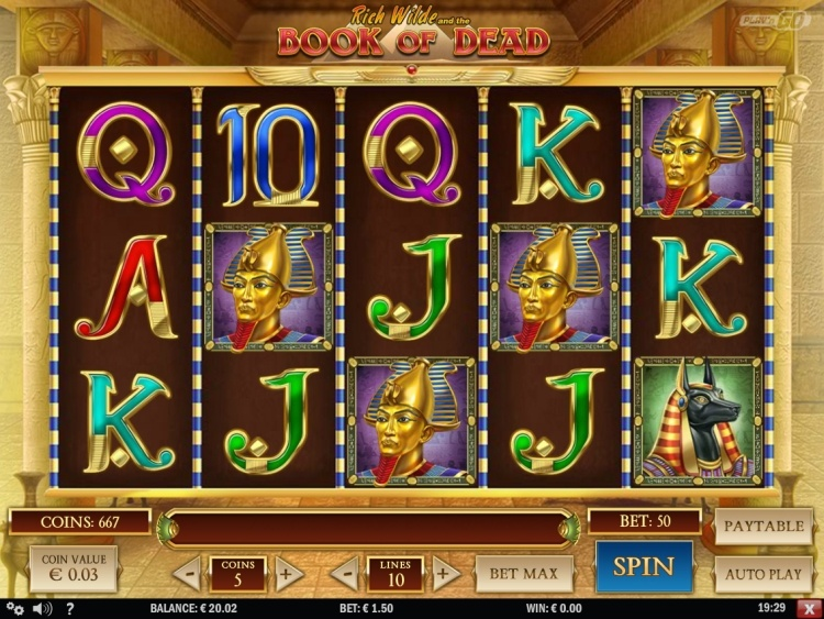 Book of dead Play n Go pokie