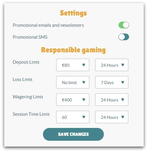 Cashmio review personal settings