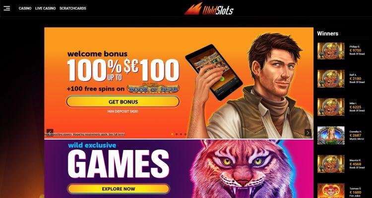 Wild Slots Casino welcome bonus banner