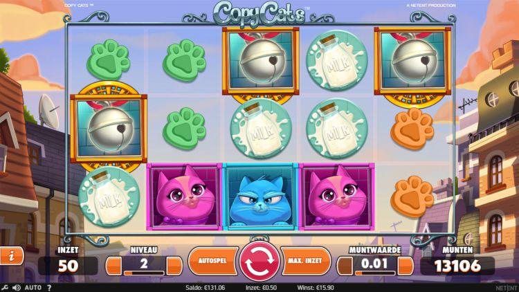 Copycats pokie bonus trigger