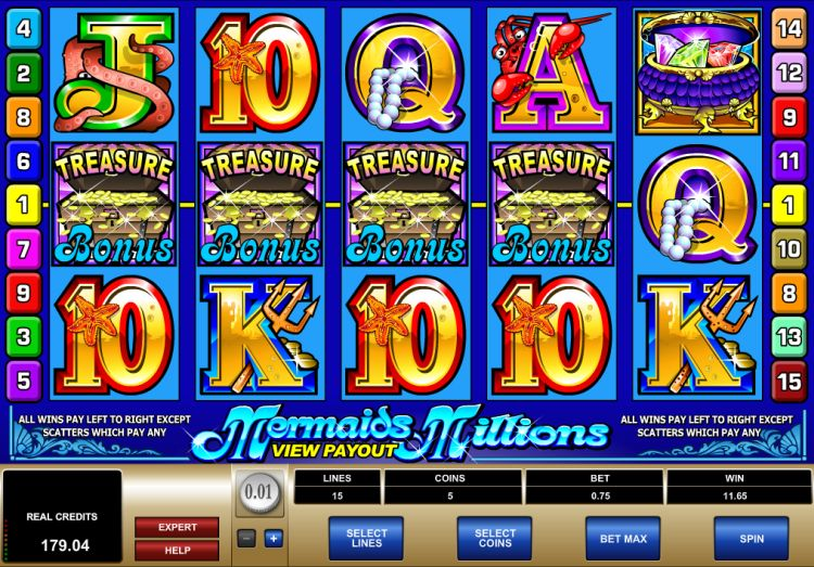 Mermaids Millions pokie