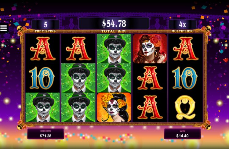 Beautiful Bones pokie microgaming bonus win