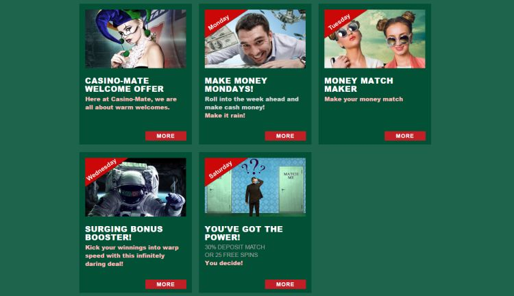 Casino Mate review promotions