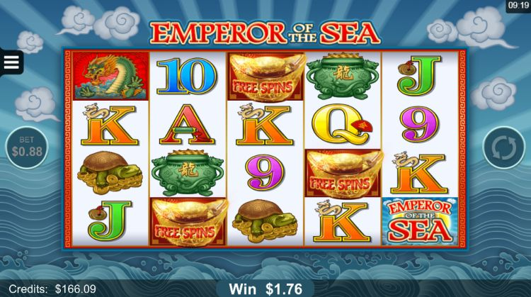 Emperor of the Sea microgaming pokie bonus trigger