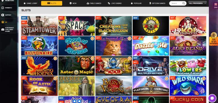 Playamo review game selection