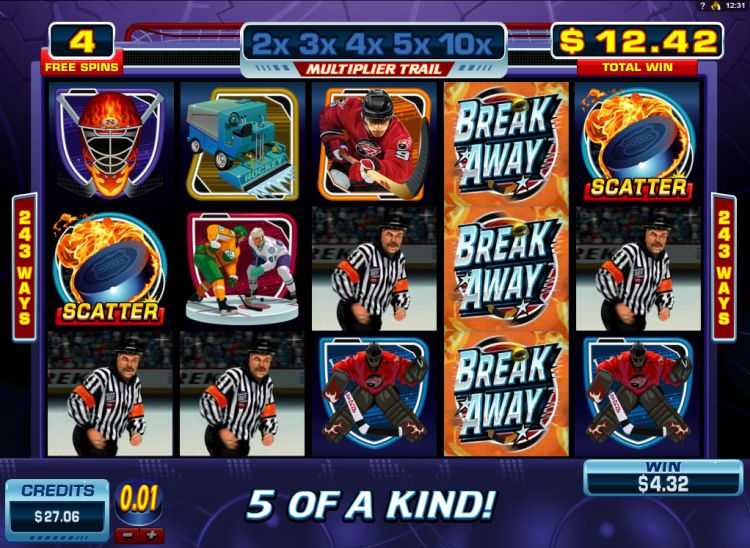 break away microgaming bonus win