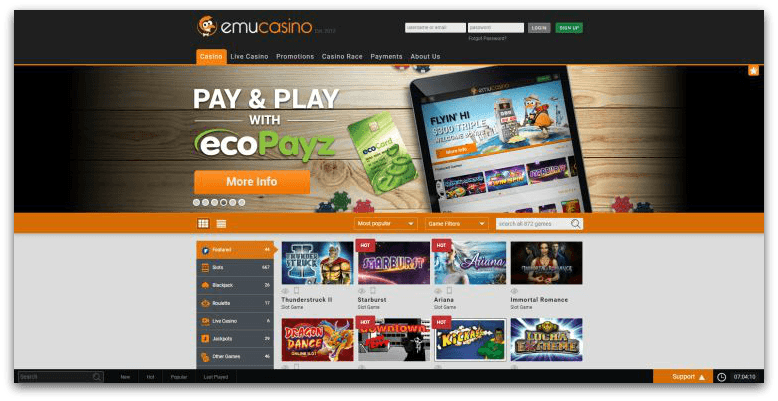 Emucasino review