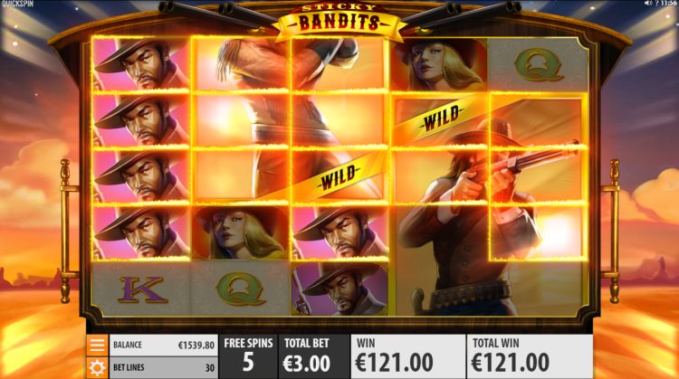 Sticky Bandits quickspin big win bonus 2