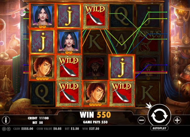Aladdin's treasure bonus spins big win