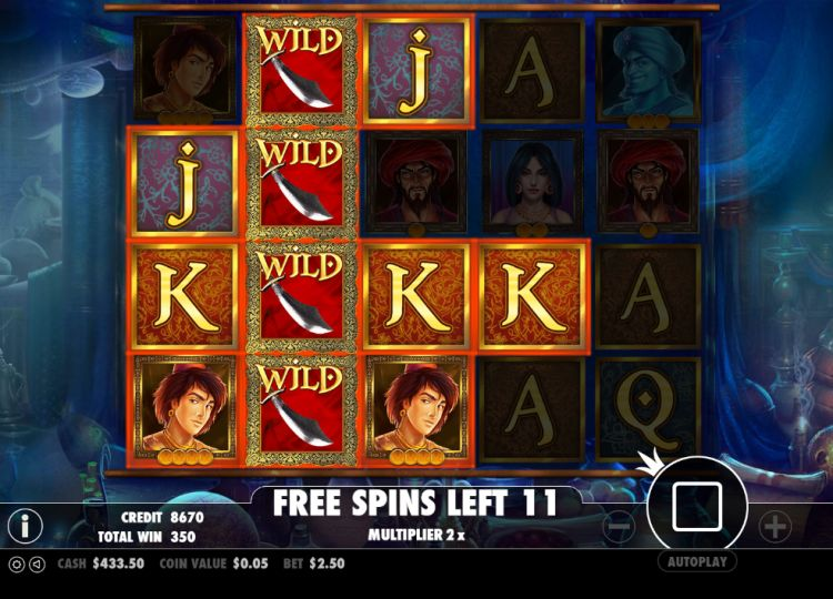Aladdin's treasure bonus spins