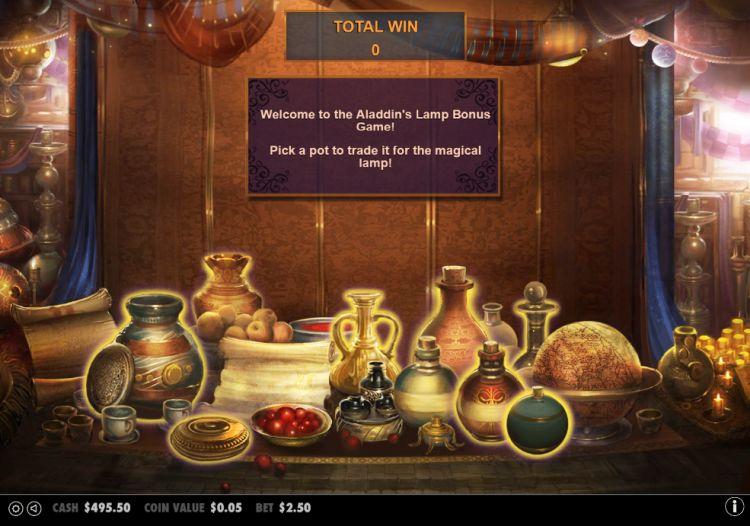 Aladdin's treasure pick em bonus