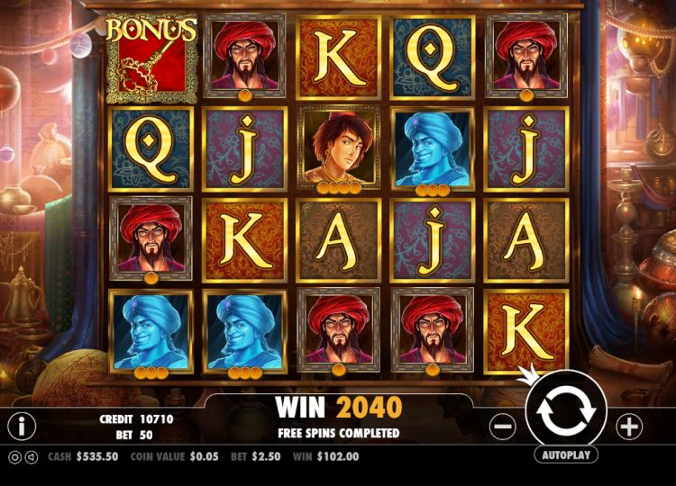 Aladdin's treasure pokie