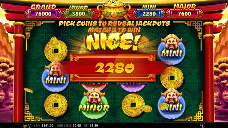Caishen's Gold pokie jackpot win