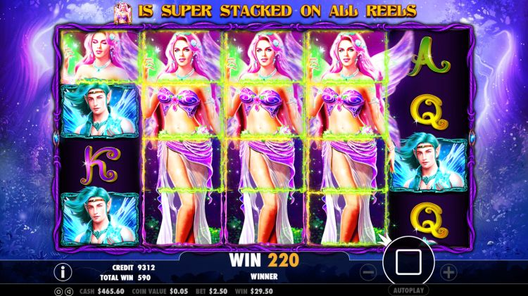 Pixie Wings Pokie bonus win
