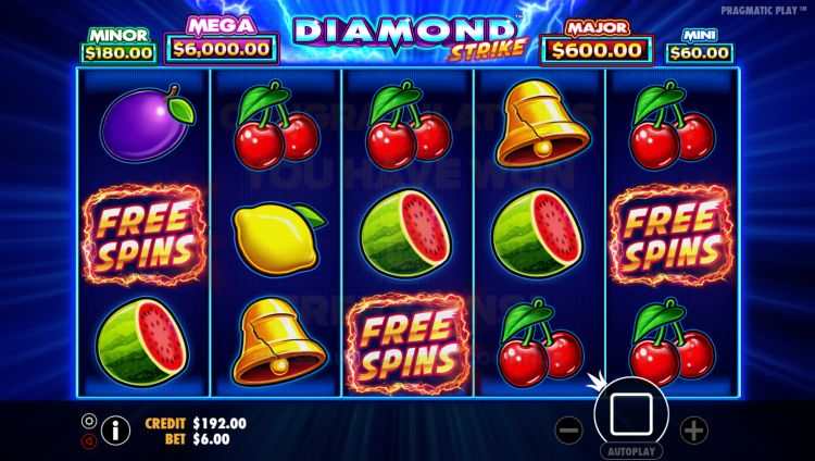 Diamond Strike Pragmatic Play bonus trigger