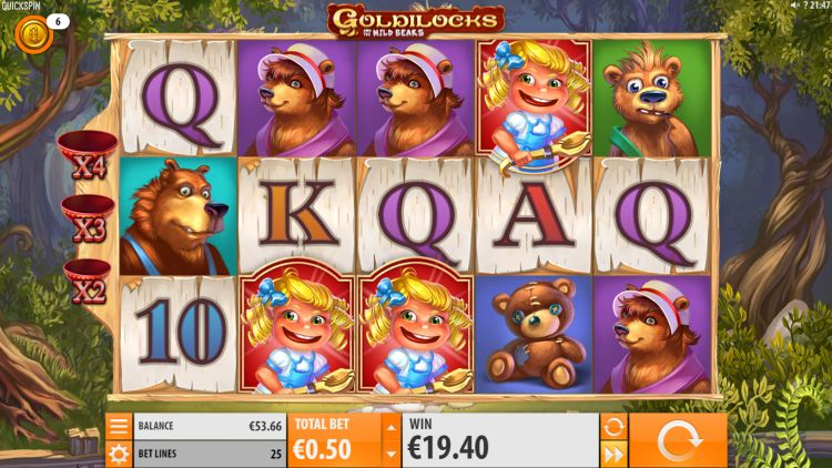 Goldilocks and the Wild bears bonus trigger