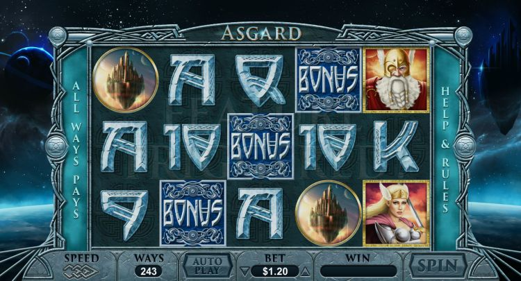 Asgard pokie review bonus