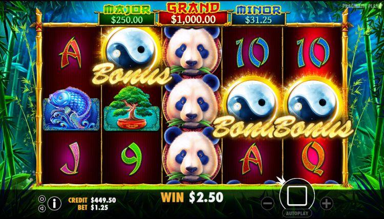 Panda's Fortune Pragmatic Play bonus trigger