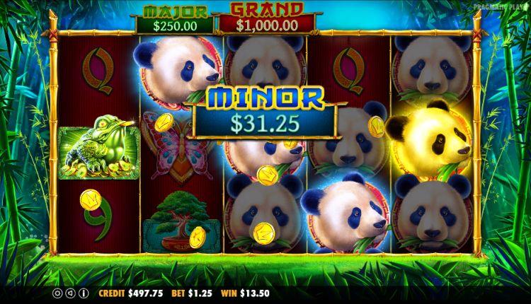 Panda's Fortune Pragmatic Play minor jackpot
