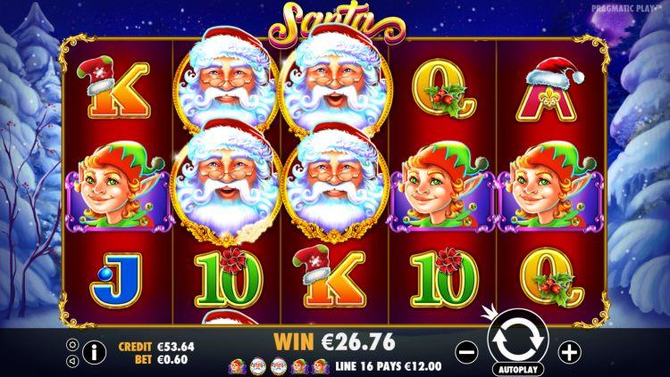 Santa pokie big win