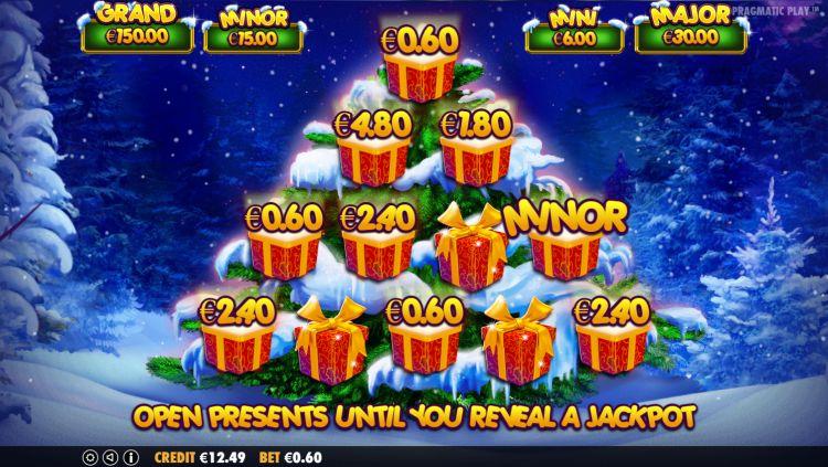 Santa jackpot bonus game
