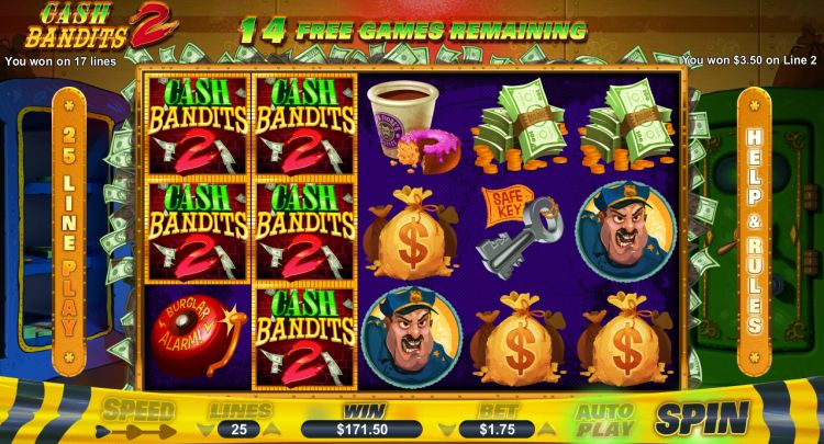 Cash Bandits 2 pokie review