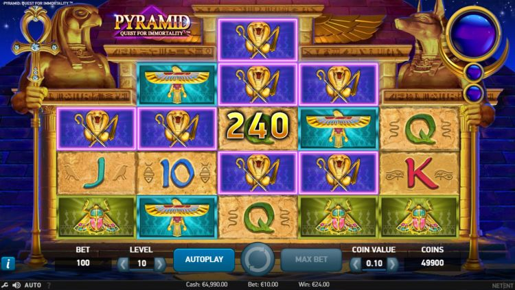 Pyramid Quest for Immortality netent win