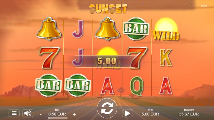 Sunset slot review win