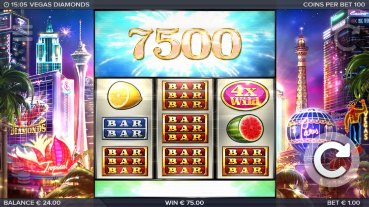 Vegas Diamonds gokkast review elk big win