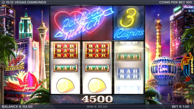 Vegas Diamonds slot review Elk studios