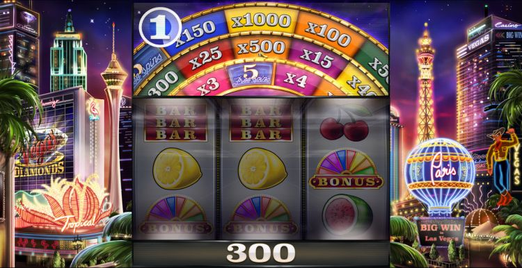 Vegas Diamonds slot review bonus wheel