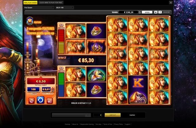 Fire Queen WMS slot review screenshot 2