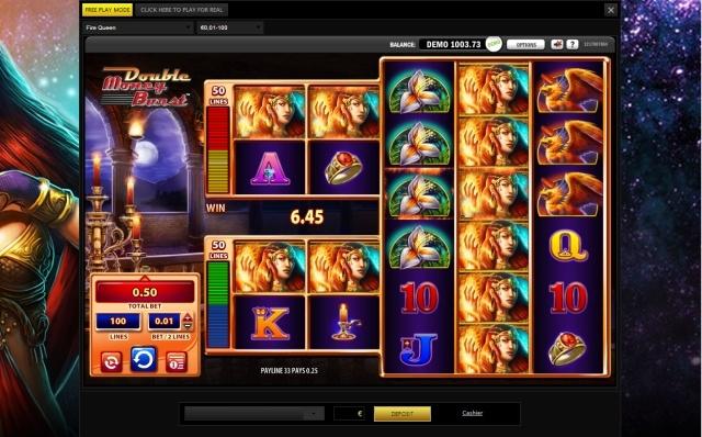 Fire Queen WMS slot review screenshot
