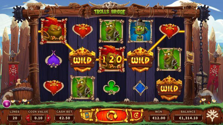 Trolls Bridge slot review Ygdrasil win