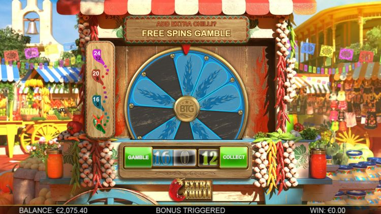 Extra Chilli slot review gamble feature