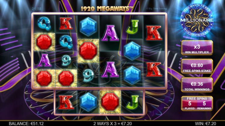 Who Wants to be a millionaire slot review bonus win 2