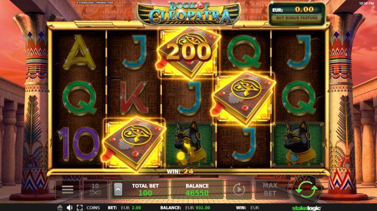 Book of Cleopatra slot review stakelogic bonus trigger
