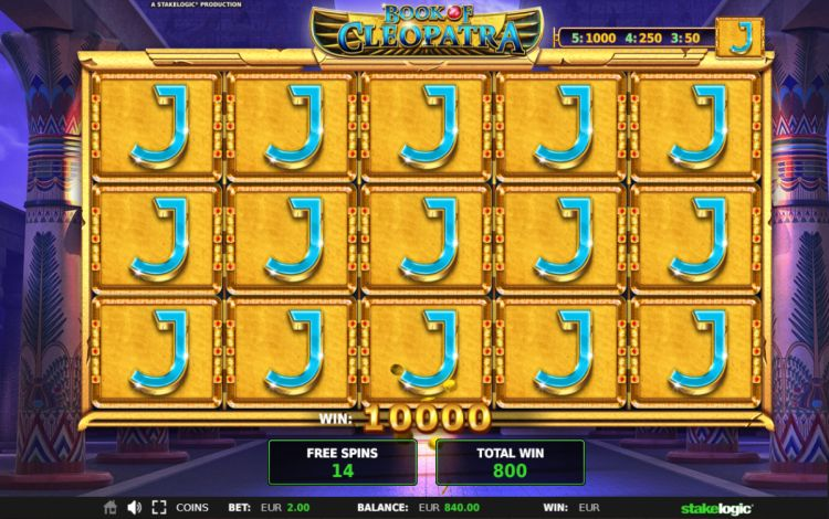 Book of Cleopatra slot review stakelogic