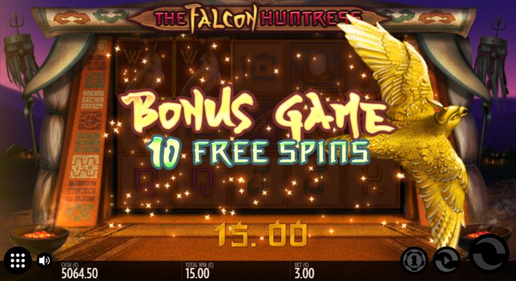 Falcon-Huntress-slot-review-Thunderkick-free-spins-trigger