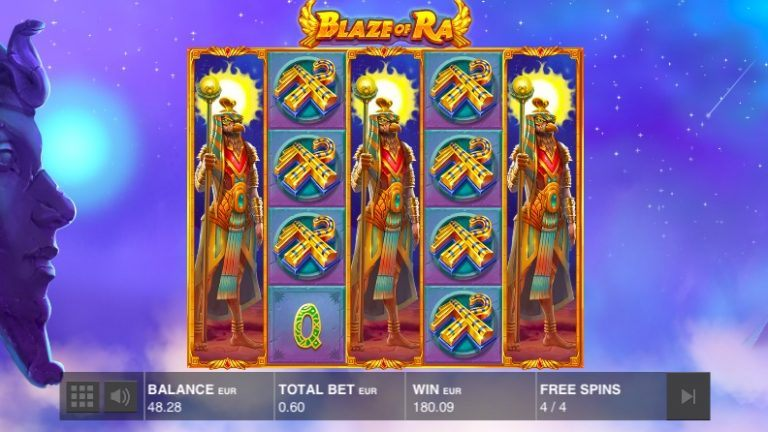 Push Gaming Slots and Games-blaze-of-ra-grote-winst-768x432