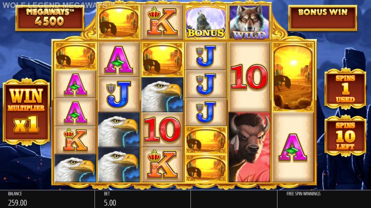 wolf-legend-megaways-slot-review-Blueprint-Gaming-free-spins-win