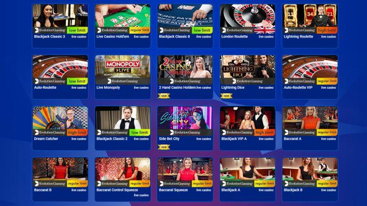 All British Casino review live casino